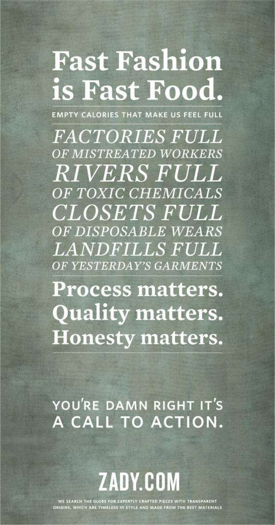 zady manifesto
